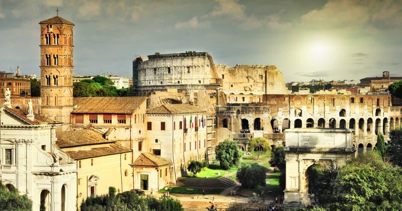 伟大的古色古香的罗马 免版税库存图片