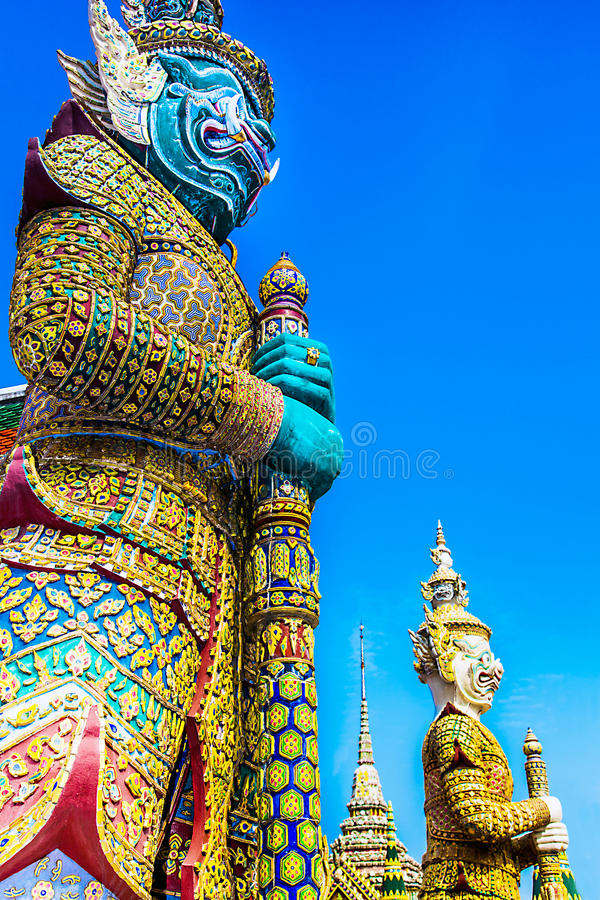 伟大的宫殿曼谷 免版税库存照片