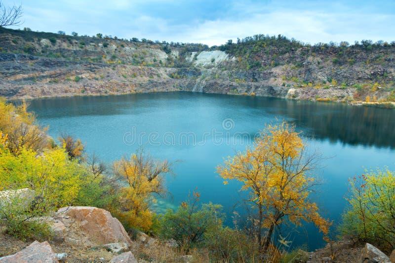 伟大的氡气蓝色湖 免版税图库摄影