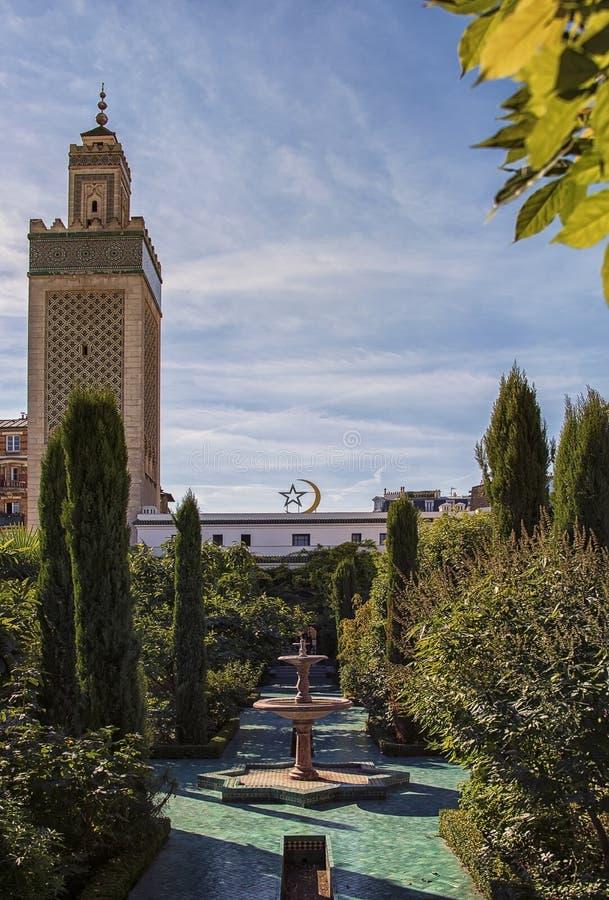 伟大的清真寺在巴黎 图库摄影