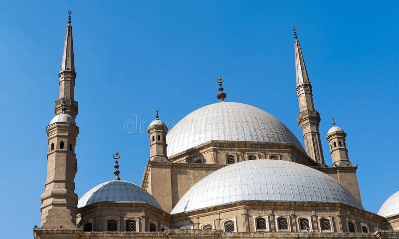 伟大的清真寺穆罕默德・阿里巴夏,开罗城堡的圆顶  库存图片