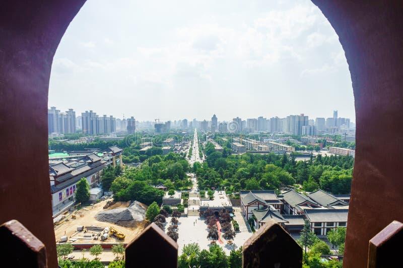伟大的狂放的鹅塔在西安,陕西,中国 库存图片
