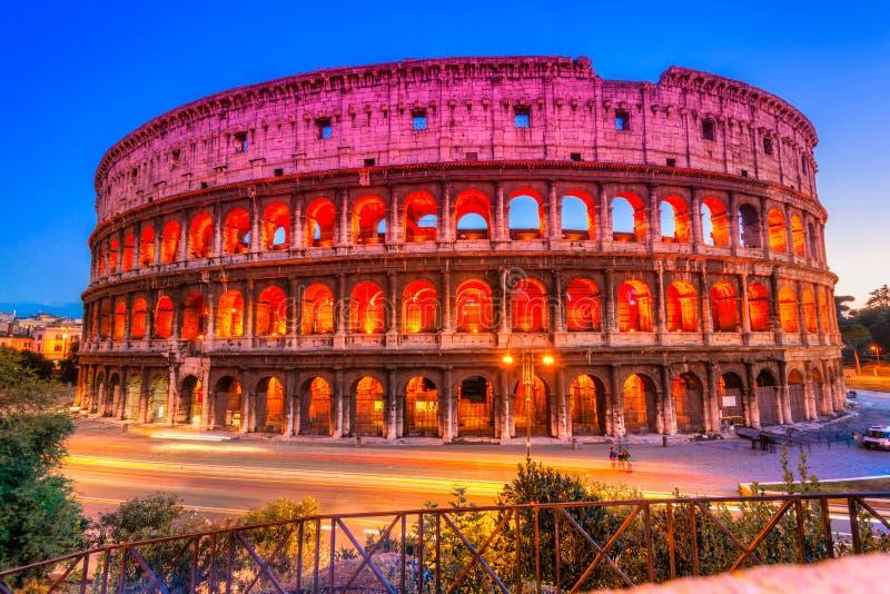 伟大的罗马斗兽场,罗马,意大利 免版税库存照片