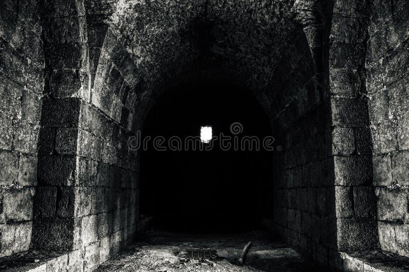 伟大的老城堡从里边大马士革 免版税库存照片