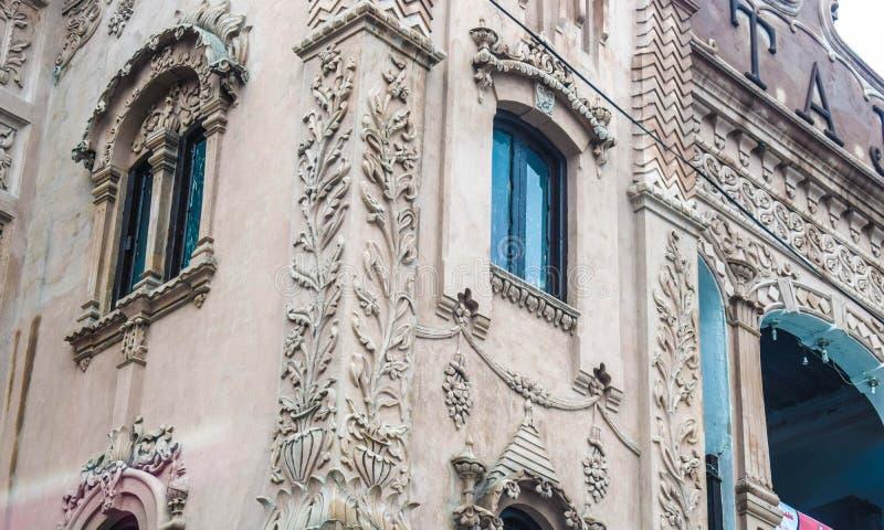 伟大的老建筑学在白沙瓦|巴基斯坦 免版税库存图片