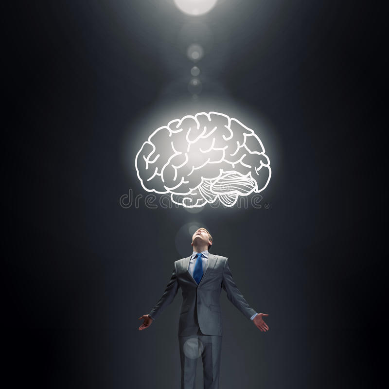 伟大的脑力 免版税库存图片