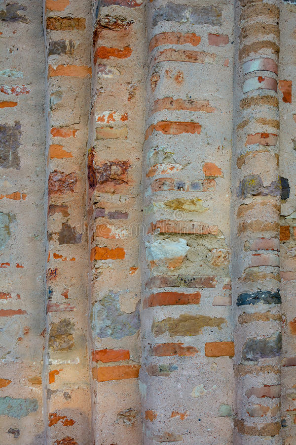 伟大的诺夫哥罗德,古老教会的墙壁 免版税库存照片