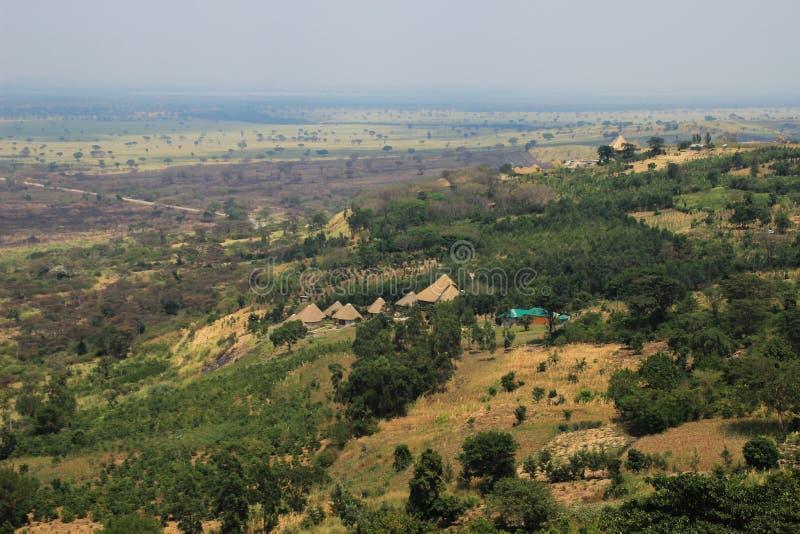 伟大的非洲裂口在乌干达 库存照片