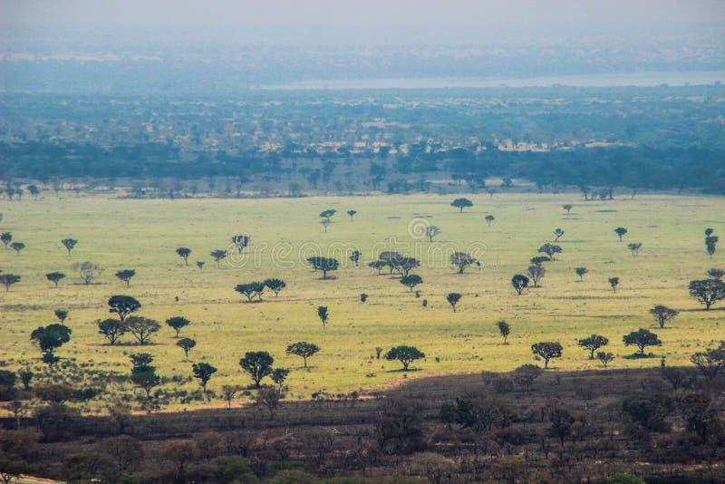 伟大的非洲裂口在乌干达 免版税库存照片
