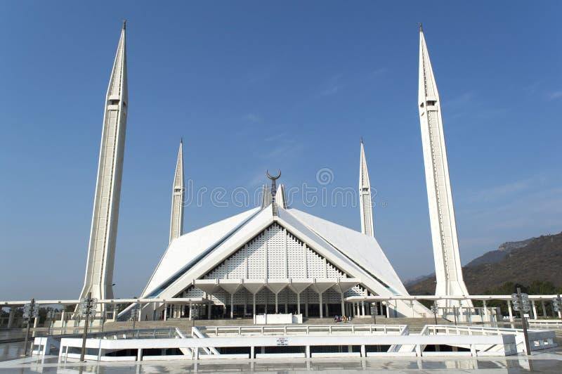 伟大的费萨尔清真寺巴基斯坦 免版税图库摄影