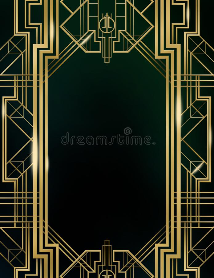 伟大的Gatsby电影启发影片背景背景海报 向量例证