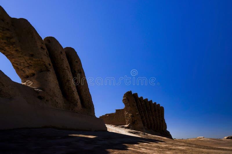 伟大的Kyz Qala或Kiz Kala Maiden's城堡,玛丽省,土库曼斯坦 库存图片