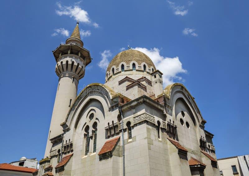 伟大的Mahmudiye清真寺,康斯坦察,罗马尼亚 图库摄影