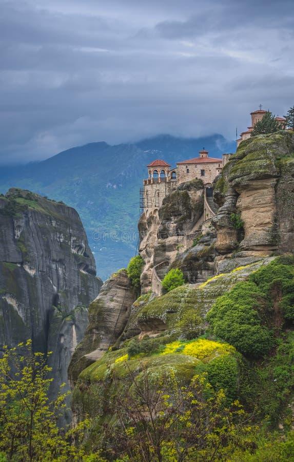 伟大的Meteoron圣洁修道院  免版税库存图片
