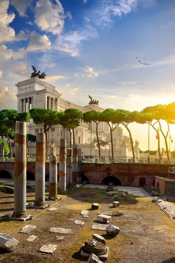 伟大的Vittoriano在罗马 库存图片