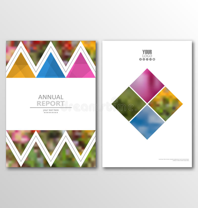 传单小册子飞行物模板A4大小设计,年终报告书设计 向量例证