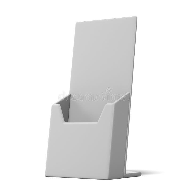 传单的空白的箱子持有人 库存例证