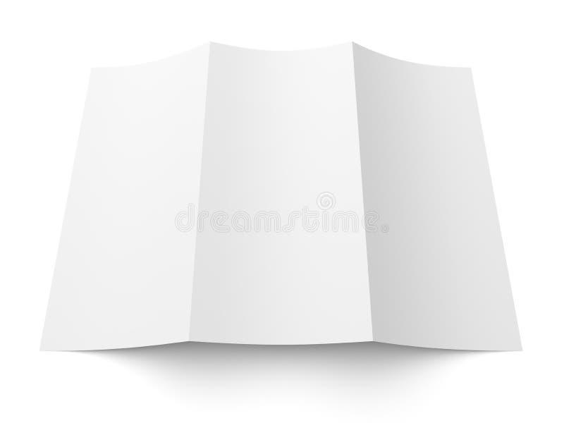 传单空白的三部合成的白皮书小册子 皇族释放例证