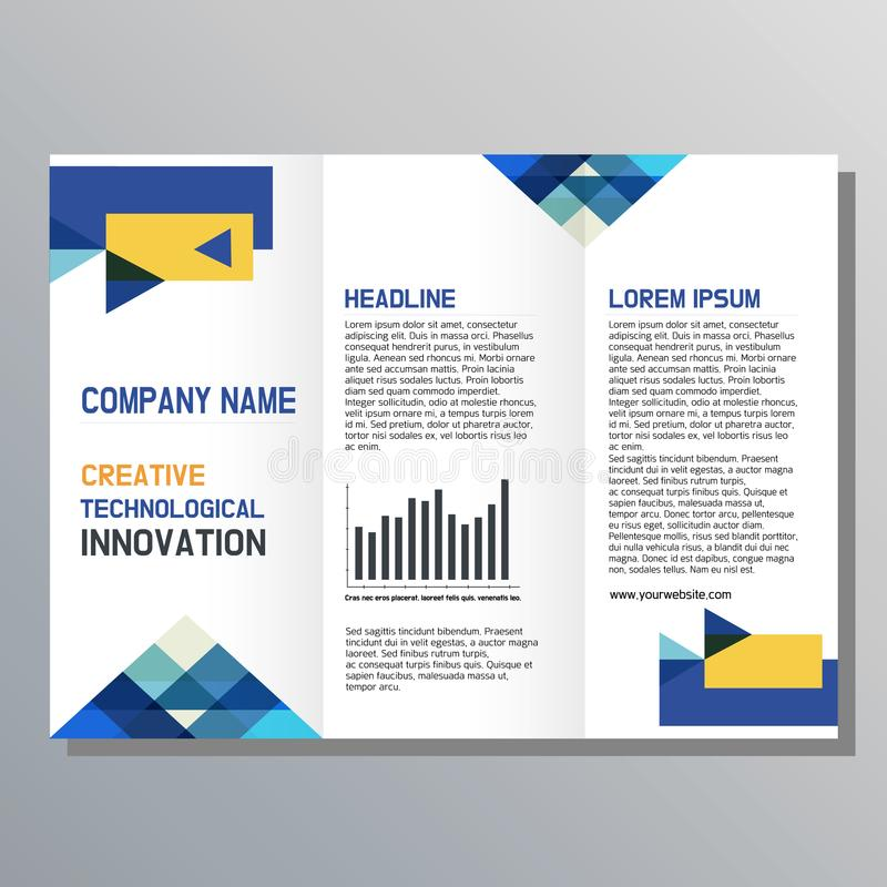 传单设计 企业小册子模板 向量例证
