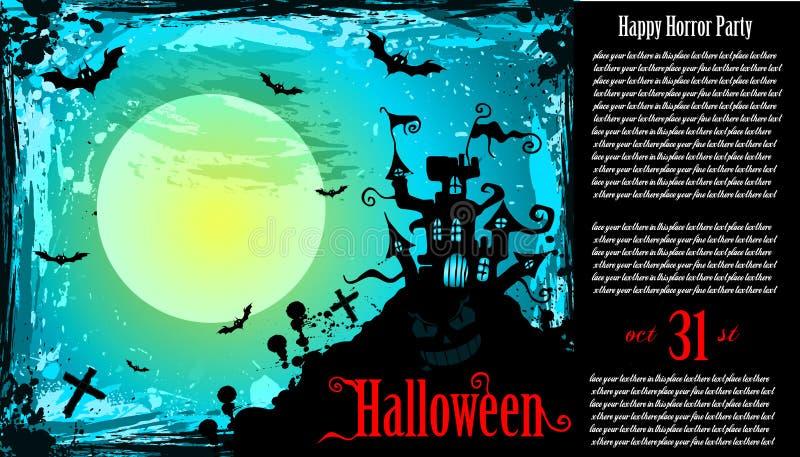 传单hallowen暗示的当事人 向量例证