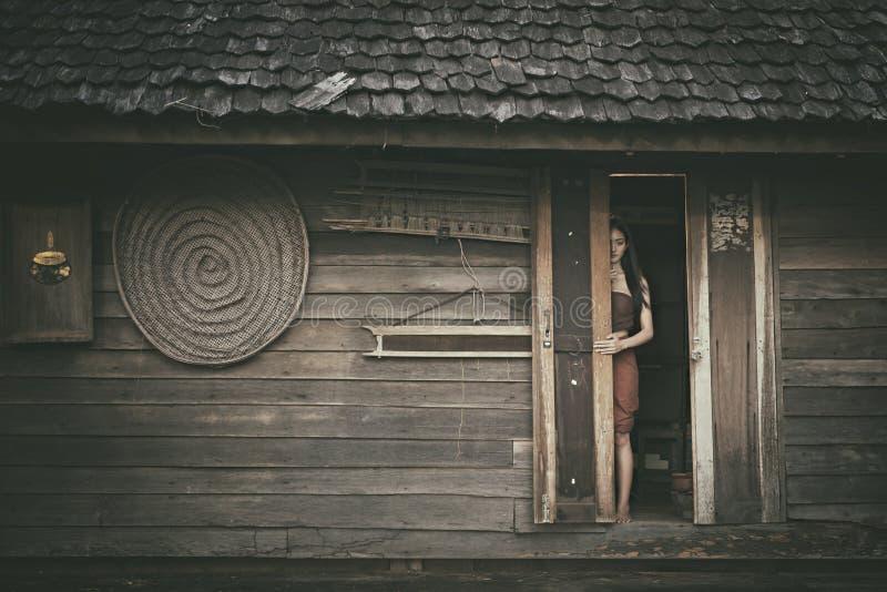 传奇泰国鬼魂Mae Nak Phra Khanong,泰国传统一致的礼服 图库摄影
