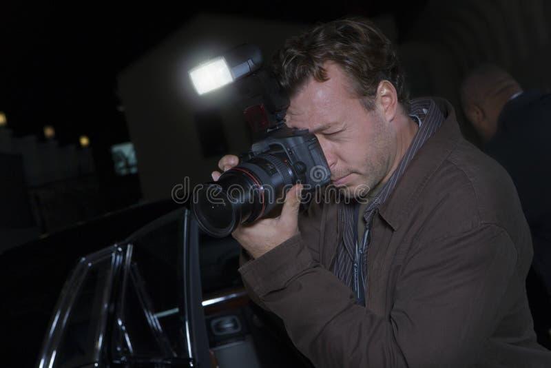 传播噱头的摄影师 库存图片