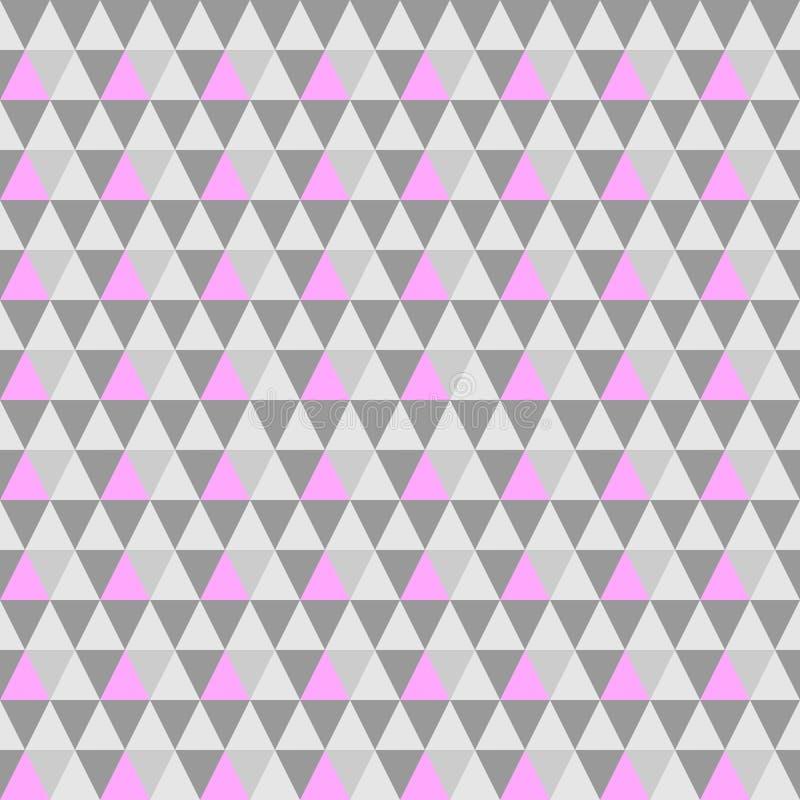 传染媒介三角灰色桃红色无缝的背景 eps10几何背景 库存例证
