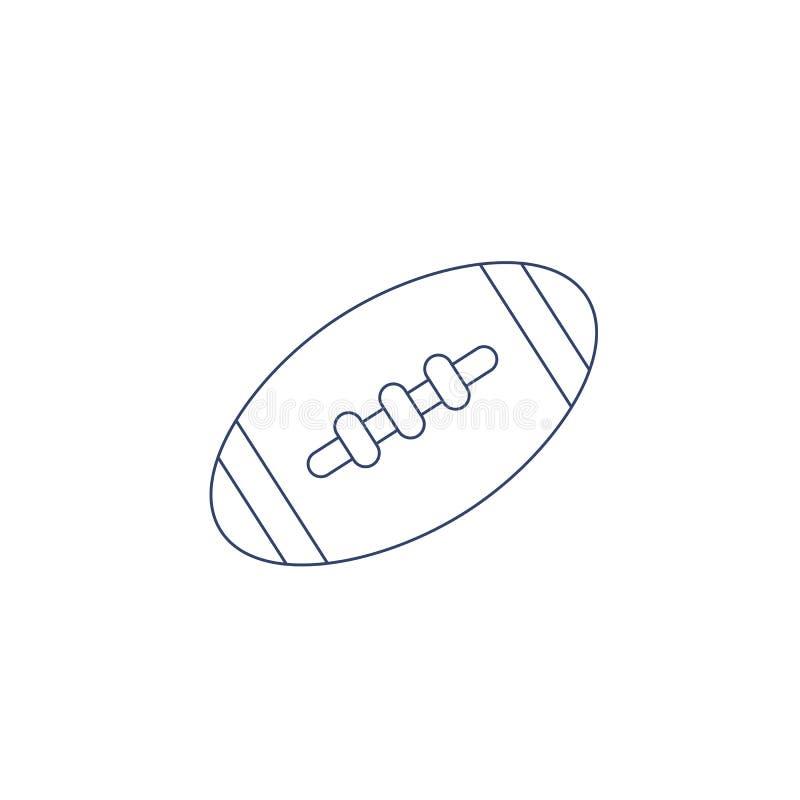 传染媒介上色的美式足球球 儿童彩图的例证 皇族释放例证
