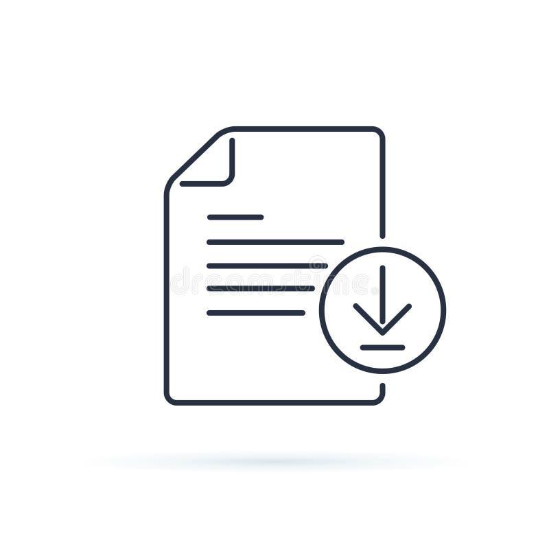 传染媒介下载文件象 与箭头illustrati的文件标志 库存例证