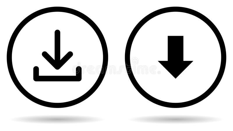 传染媒介下载标志圆的按钮象 皇族释放例证