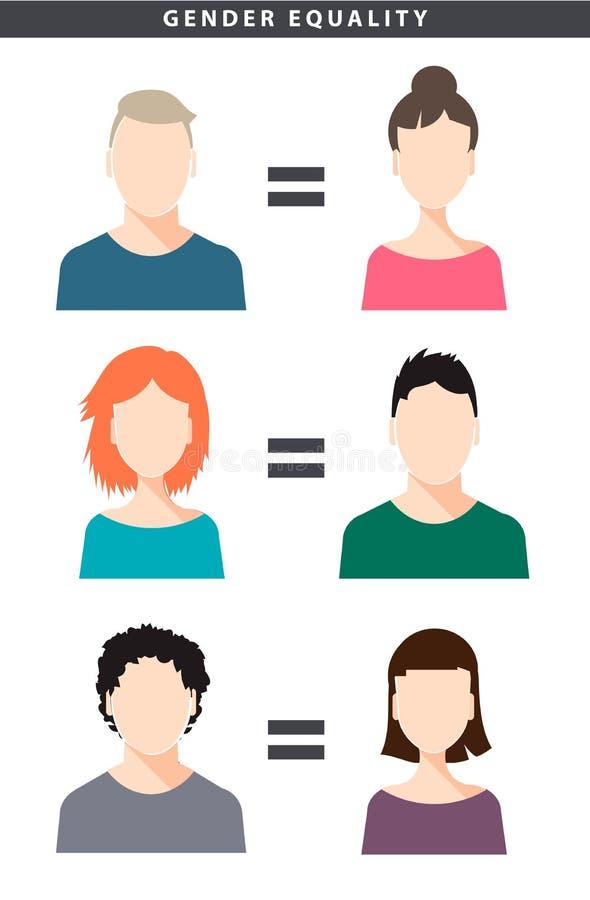 传染媒介与女性的男女平等例证 向量例证