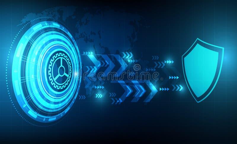 传染媒介与安全设计的技术圈子和词映射,保护概念 皇族释放例证