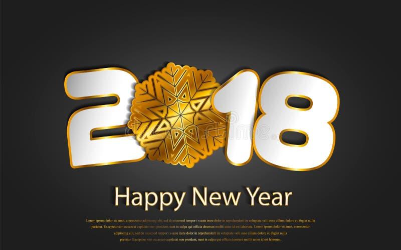 传染媒介与纸切口的新年快乐2017年背景 向量例证