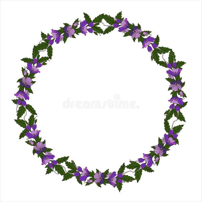 传染媒介与花卉花圈的贺卡 生日贺卡、生日和其他假日 r 皇族释放例证