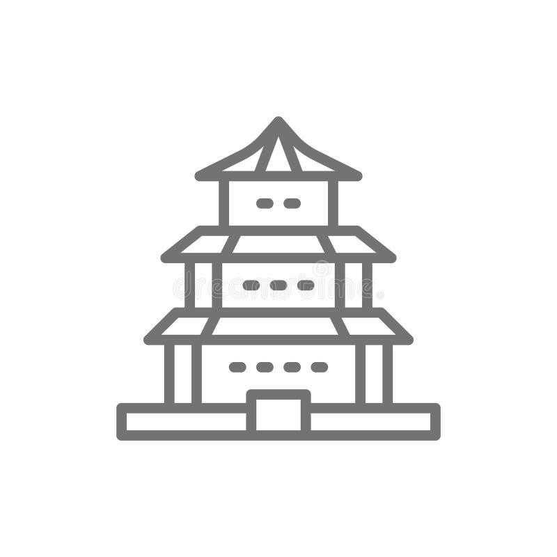 传染媒介中国寺庙,传统教会线象 皇族释放例证
