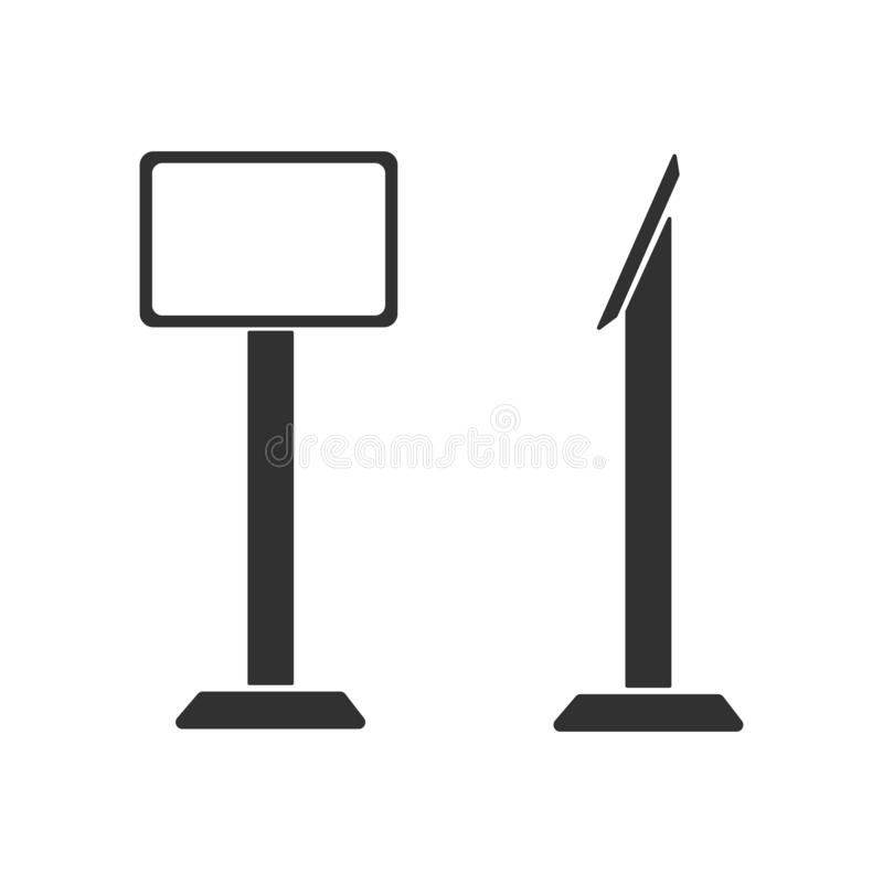传染媒介交互式信息问讯处终端立场屏幕显示、设备或者片剂立场 蝴蝶 皇族释放例证