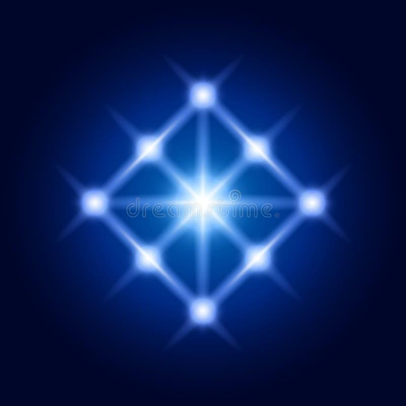 传染媒介亮光菱形 神圣的几何精神标志 库存例证
