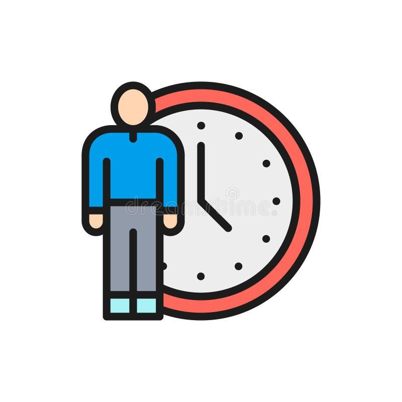 传染媒介人与时钟,时间管理平的种族分界线象 皇族释放例证