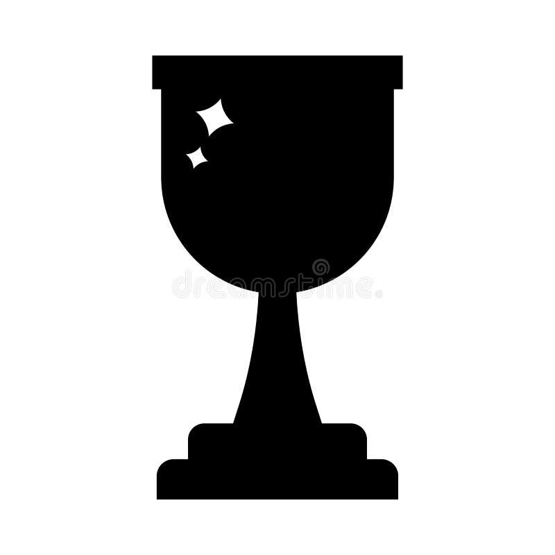 传染媒介优胜者战利品杯子象 在白色背景隔绝的奖黑剪影 干净和现代传染媒介例证为 皇族释放例证