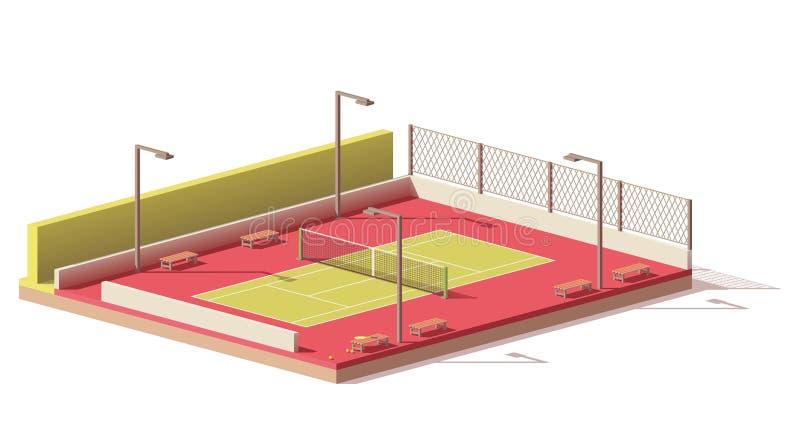 传染媒介低多网球场 向量例证