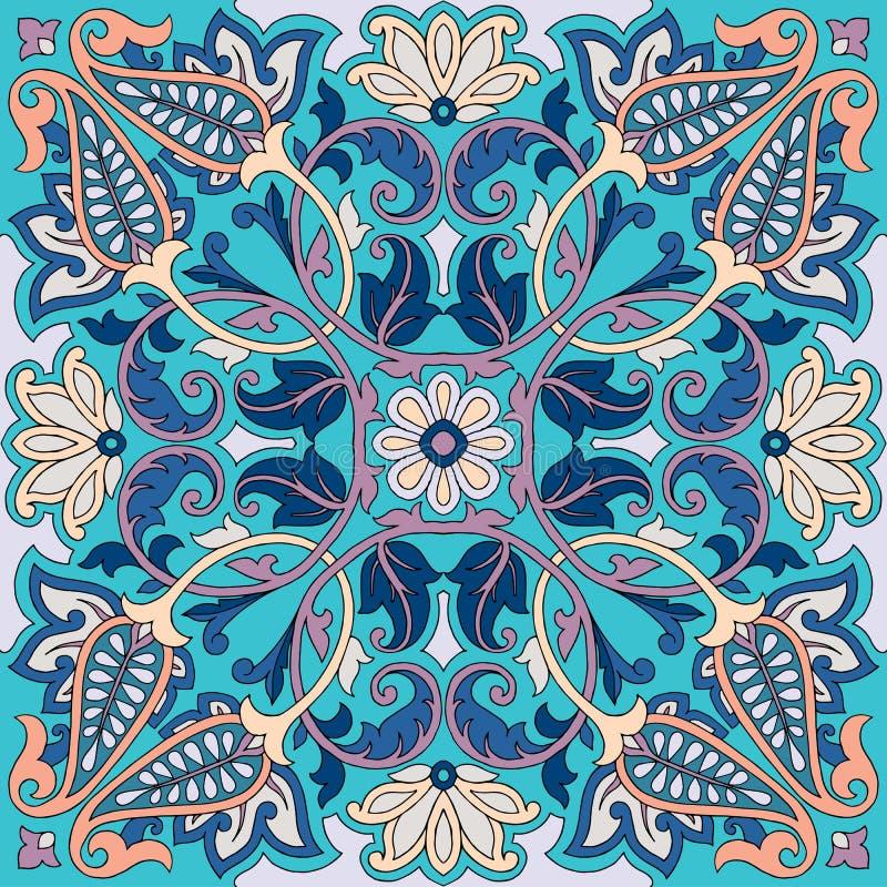 媒介佩兹利方巾装饰品印刷品 丝绸头巾,枕头,内部装饰正方形样式设计图片