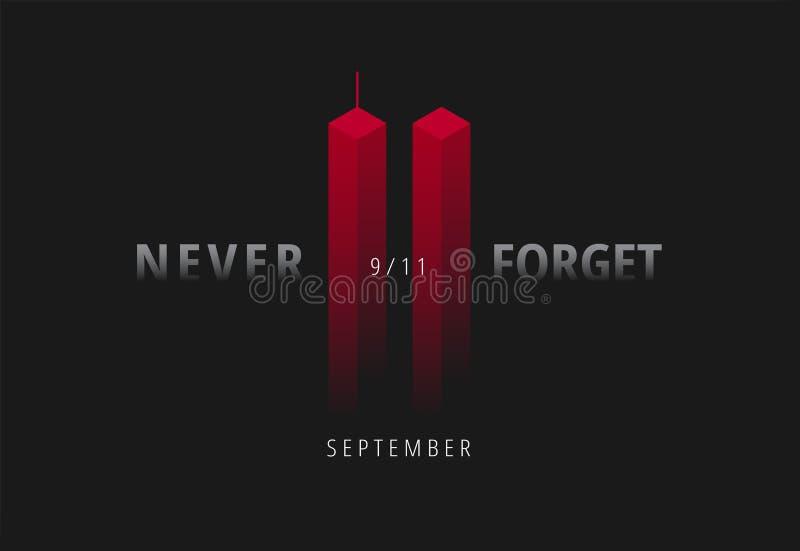 9/11传染媒介例证为爱国者天美国 黑背景w 皇族释放例证