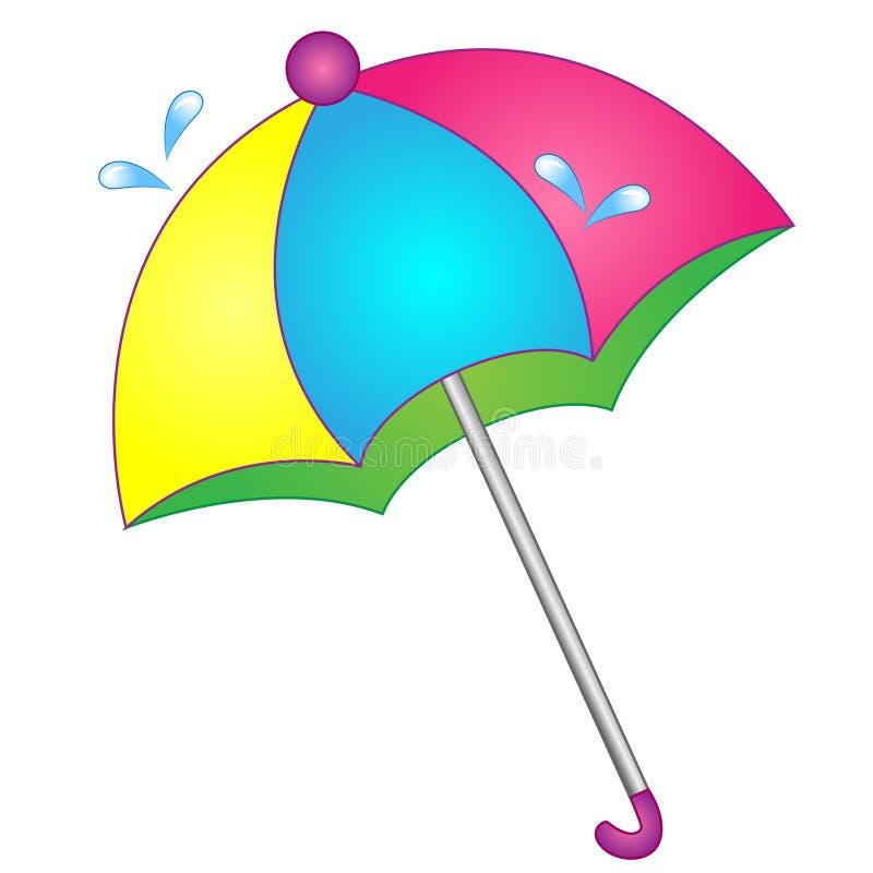 传染媒介例证动画片伞为季风 免版税库存图片