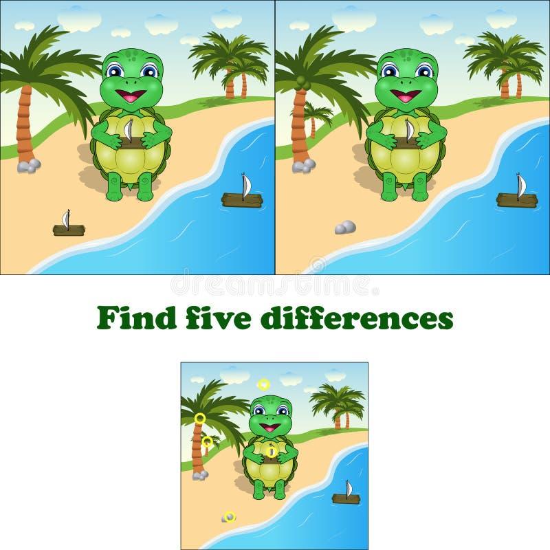 传染媒介例证发现5区别乌龟 向量例证