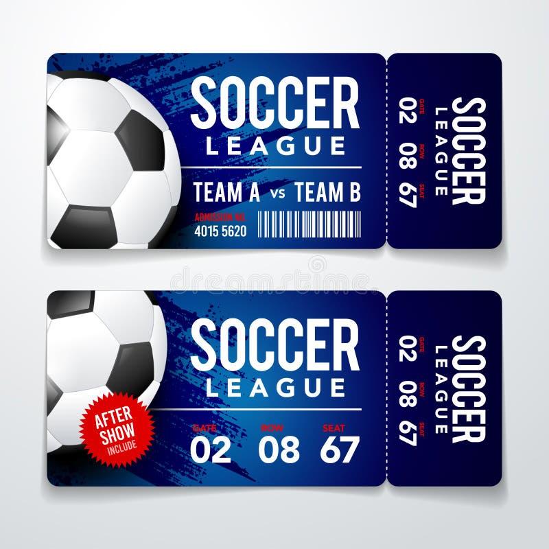 传染媒介例证套橄榄球,与现实球的足球现代平的票卡片元素图形设计 皇族释放例证