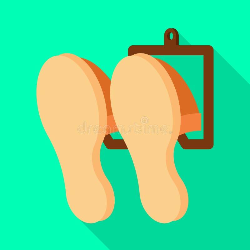 传染媒介例证室内和拖鞋签字 设置网的室内和衣物股票简名 皇族释放例证