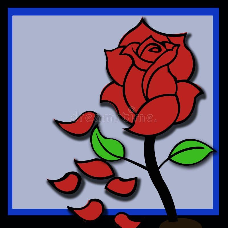 传染媒介例证玫瑰 皇族释放例证