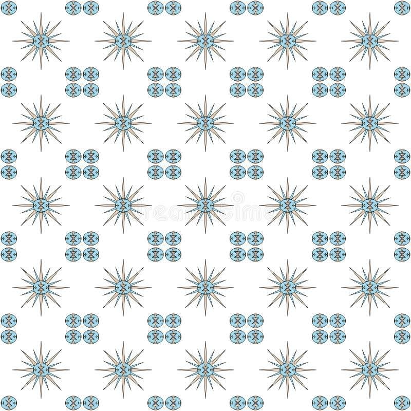 传染媒介例证背景影像摘要四件装饰品的样式装饰品在角落的与一朵满天星斗的玫瑰在中心o 向量例证