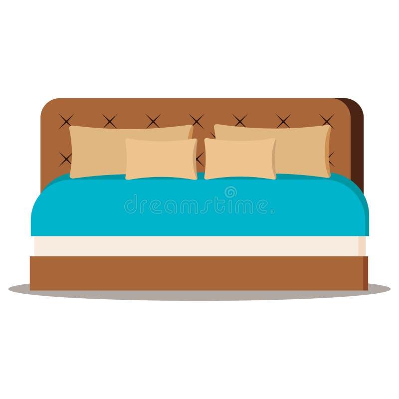 传染媒介例证隔绝在家具的白色背景元素 向量例证
