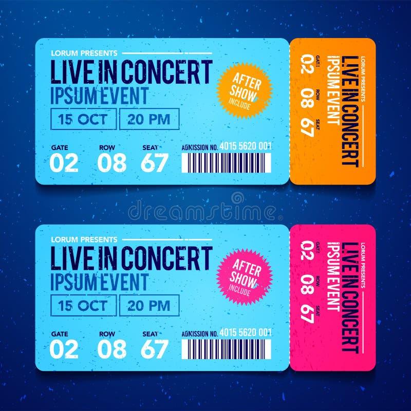 传染媒介例证音乐会票模板 音乐会、党或者节日票设计模板 皇族释放例证